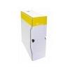 VICTORIA Archiváló doboz, A4, 100 mm, karton, VICTORIA, sárga-fehér