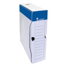 VICTORIA Archiváló doboz, A4, 80 mm, karton, , kék-fehér kreatív papír