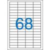 VICTORIA Etikett, univerzális, 48,5x16,9 mm, VICTORIA, 6800 etikett/csomag