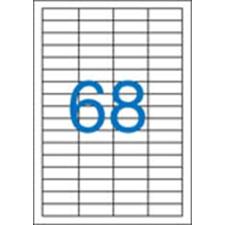 VICTORIA Etikett, univerzális, 48,5x16,9 mm, VICTORIA, 6800 etikett/csomag etikett