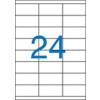 VICTORIA Etikett, univerzális, 70x36 mm, VICTORIA, 2400 etikett/csomag