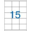 VICTORIA Etikett, univerzális, 70x50,8 mm, VICTORIA, 1500 etikett/csomag [100 lap]