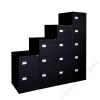 VICTORIA Függőmappatároló fémszekrény, 3 fiókos, VICTORIA, fekete (BICCA17)