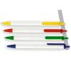 VICTORIA Golyóstoll, 0,7 mm, nyomógombos, kék-fehér tolltest, , kék