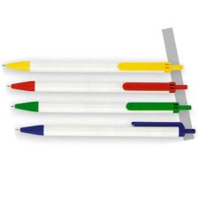 VICTORIA Golyóstoll, 0,7 mm, nyomógombos, kék-fehér tolltest, , kék toll