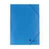 VICTORIA Gumis mappa, karton, A4, VICTORIA, kék