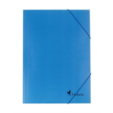 VICTORIA Gumis mappa, karton, A4, VICTORIA, kék mappa