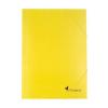 VICTORIA Gumis mappa, karton, A4, VICTORIA, sárga
