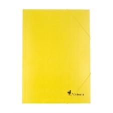 VICTORIA Gumis mappa, karton, A4, VICTORIA, sárga mappa
