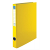 VICTORIA Gyűrűs könyv, 2 gyűrű, 35 mm, A4, PP/karton, , sárga