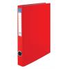 VICTORIA Gyűrűs könyv, 4 gyűrű, 35 mm, A4, PP/karton, , piros