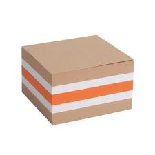 VICTORIA Kockatömb, 85x85x50 mm, VICTORIA, színes irodai kellék