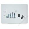 VICTORIA Mágneses üvegtábla, 120x90cm, VICTORIA, fehér (VVGL02)