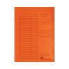 VICTORIA Pólyás dosszié, karton, A4, VICTORIA, narancs