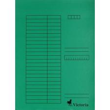 VICTORIA Pólyás dosszié, karton, A4, VICTORIA, zöld mappa