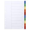 VICTORIA Regiszter, műanyag, A4, 10 részes, VICTORIA, színes