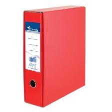 VICTORIA Tokos iratrendező, 75 mm, A4, karton, VICTORIA, piros irattartó
