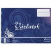 VICTORIA Vázlatfüzet, félfamentes, B4, spirál, 32 lap, VIC