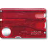 Victorinox SwissCard Nailcare Red Transparent