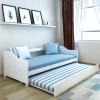 vidaXL 200x90 cm kihúzható fenyőfa kanapéágy fehér