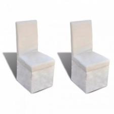 vidaXL 2 db krémfehér szövet étkezőszék bútor