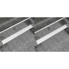 vidaXL 2 db lineáris acél buborék zuhany lefolyó 1030 x 140 mm egyéb hálózati eszköz