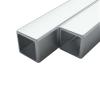 vidaXL 2 rozsdamentes acél négyzetes zártszelvény V2A 30x30x1,9mm, 2 m