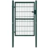 vidaXL 2D kerítés kapu 106 x 170 cm zöld