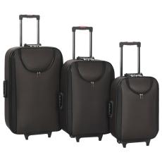 vidaXL 3 db barna oxford szövet puha gurulós bőrönd