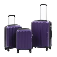 vidaXL 3 db lila keményfalú ABS gurulós bőrönd