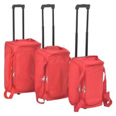 vidaXL 3 részes, piros bőröndszett