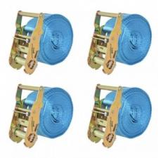 vidaXL 4 db kék racsnis spanifer 2 tonna 6 m x 38 mm barkácsgép tartozék
