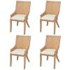 vidaXL 4 db rótáng étkező szék