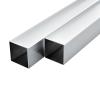 vidaXL 6 db alumínium négyzetes zártszelvény 25x25x2mm, 2 m