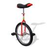 vidaXL Állítható egykerekű kerékpár 20 inch piros