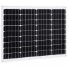 vidaXL Alumínium és biztonsági üveg monokristályos napelem 50 W