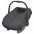 vidaXL babahordozó/autósülés takaró 57 x 43 cm fekete