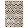vidaXL barna/fekete/kék modern szőnyeg cikcakk mintával 160 x 230 cm