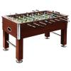 vidaXL barna MDF és acél csocsóasztal 140 x 74,5 x 87,5 cm