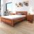 vidaXL barna tömör akácfa ágykeret szekrényekkel 140 x 200 cm