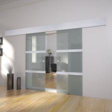 vidaXL dupla üveg tolóajtó építőanyag