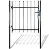 vidaXL Egyajtós kerítés kapu lándzsa felső 100 x 150 cm