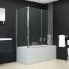 vidaXL ESG zuhanykabin összecsukható ajtóval 120 x 68 x 140 cm