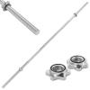 vidaXL ezüstszínű acél súlyzórúd 2,5 x 160 cm