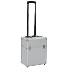 vidaXL ezüstszínű alumínium pilótabőrönd 39 x 47 x 25 cm