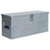 vidaXL ezüstszínű alumíniumdoboz 76,5 x 26,5 x 33 cm