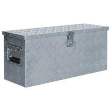 vidaXL ezüstszínű alumíniumdoboz 76,5 x 26,5 x 33 cm szerszám kiegészítő
