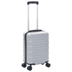 vidaXL ezüstszínű keményfalú ABS gurulós bőrönd