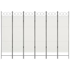 vidaXL fehér 6-paneles paraván 240 x 180 cm bútor