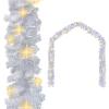 vidaXL fehér karácsonyi füzér LED-es izzókkal 10 m